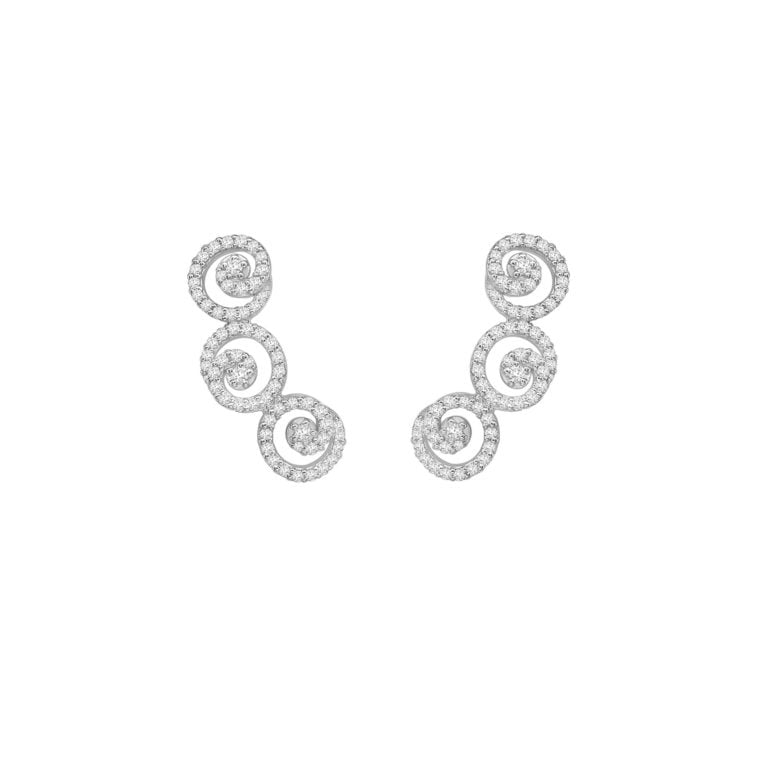 Sweet Pea Diamond Earrings