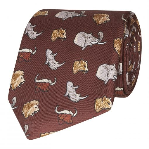 "William & Son ""Big"" Five Silk Tie"