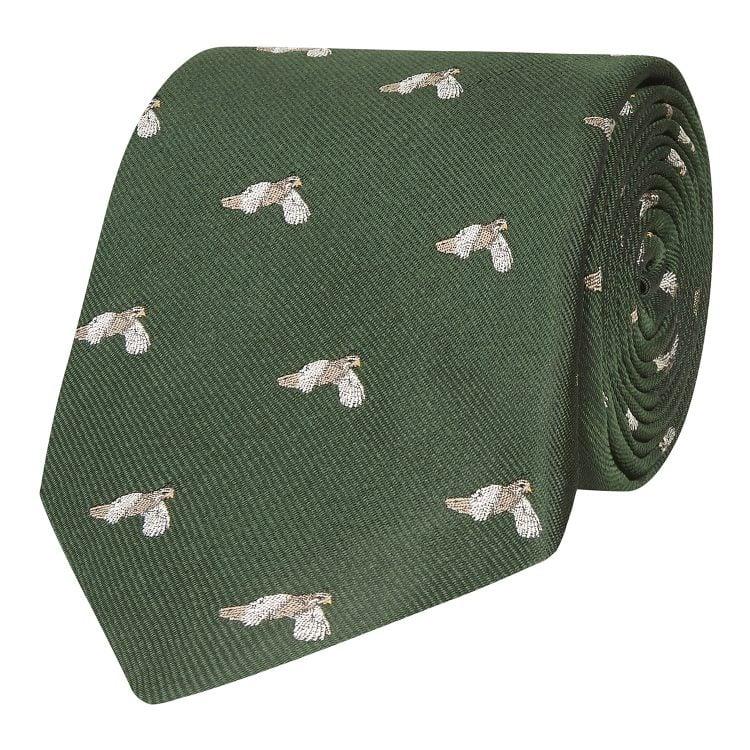 Flying Partridge Silk Tie