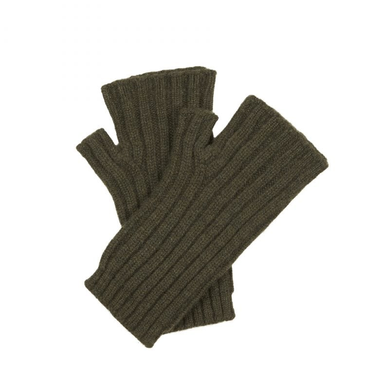 Cashmere Hand Warmer Gloves - Loden Green