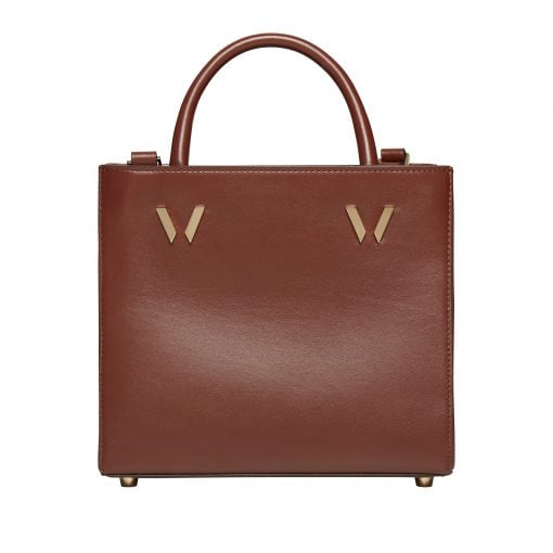 Bruton Tan Mini Shopper Leather Bag