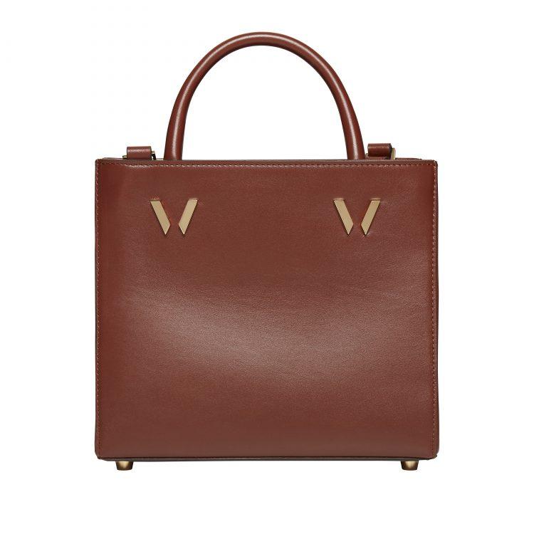 Bruton Tan Mini Shopper Leather Bag